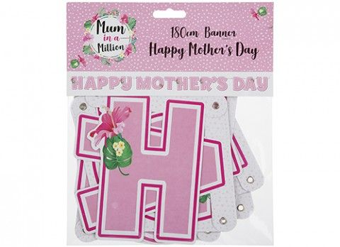 HAPPY MOTHERS DAY BANNER 180CM