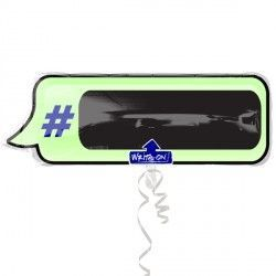 Hashtag Text Bubble XL Supershape Write-On
