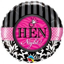 "HEN NIGHT! DAMASK & STRIPES 18"" PKT"