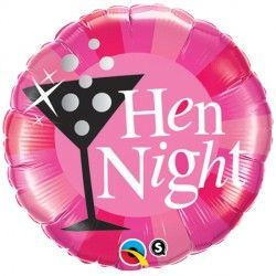 "HEN NIGHT PINK 18"" PKT"
