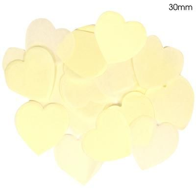 Ivory Paper Heart Confetti 30mm