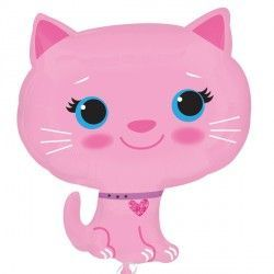 KITTEN PINK STREET TREAT SHAPE FLAT