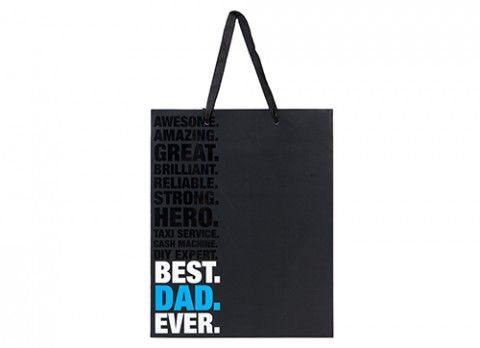 LARGE BEST DAD EVER GIFT BAG  26.5 X 33 X 14CM