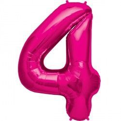 "MAGENTA NUMBER 4 SHAPE 16"" PKT"
