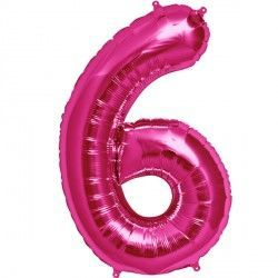 "MAGENTA NUMBER 6 SHAPE 16"" PKT"