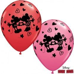 "MICKEY & MINNIE XOXO 11"" RED & ROSE (25CT)"