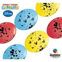 "MICKEY MOUSE QUICK LINK 12"" RED, YELLOW & PALE BLUE (50CT)"