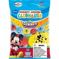 "MICKEY MOUSE QUICK LINK PARTY BANNERS 12"" (10CT)"