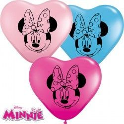 "MINNIE MOUSE FACES 6"" WILD BERRY, YELLOW, PALE BLUE & PINK (100CT)"