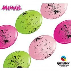 "MINNIE MOUSE QUICK LINK 12"" PINK, WILD BERRY & LIME GREEN (50CT)"