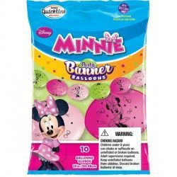 "MINNIE MOUSE QUICK LINK PARTY BANNERS 12"" (10CT)"