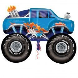 MONSTER TRUCK BLUE STREET TREAT SHAPE FLAT