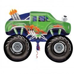 MONSTER TRUCK GREEN STREET TREAT SHAPE FLAT