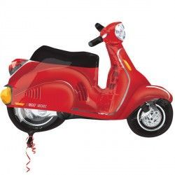 MOTOR SCOOTER RED STREET TREAT SHAPE FLAT