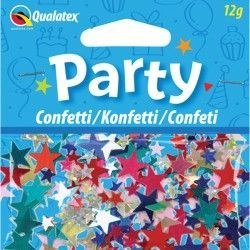 MULTI-COLOURED STARS CONFETTI 12G (1CT X 6 PACKS)