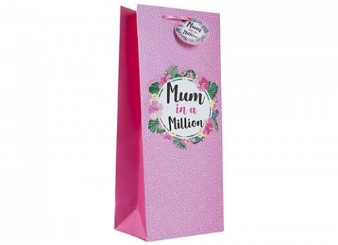 MUM IN A MILLION BOTTLE BAG WITH GIFT TAG