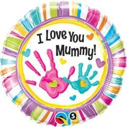 "MUMMY HANDPRINTS I LOVE YOU 18"" PKT"