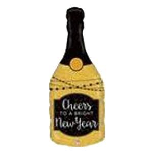 New Year Champagne Bottle Bettalic 36""