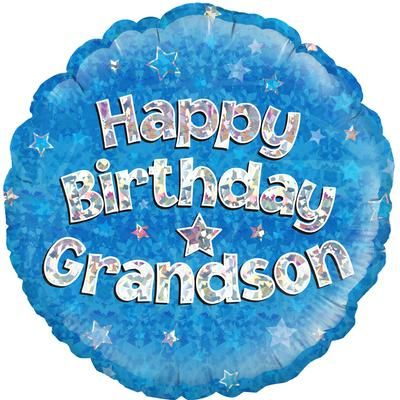 "Oaktree 18"" Happy Birthday Grandson"