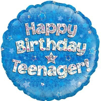 "Oaktree 18"" Happy Birthday Teenager Blue"