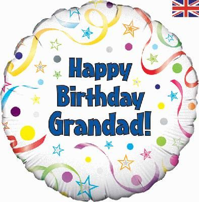 Oaktree 18inch Happy Birthday Grandad