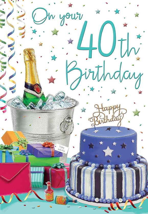 Tremendous On Your 40Th Birthday Cake C75 Funny Birthday Cards Online Elaedamsfinfo