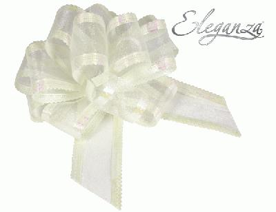 Organza Pull Bows 50mm x10pcs Ivory No.61