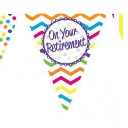 PAPER FLAG BUNTING 12FT ON YOUR RETIREMENT
