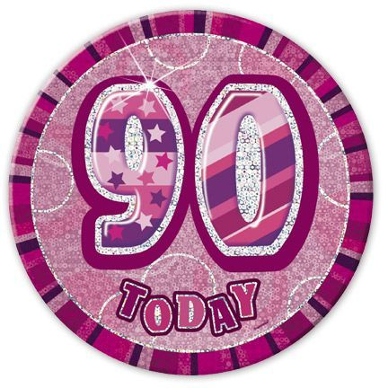 "PINK ""90"" TODAY PRISM AGE BIRTHDAY BADGES"