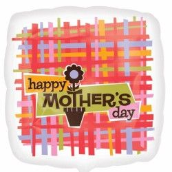 PLAID HAPPY MOTHER'S DAY STANDARD S40 PKT