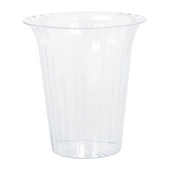 Plastic Medium Flared Containers 14.9cm