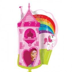 PRINCESS & UNICORN CASTLE STREET TREAT SHAPE FLAT