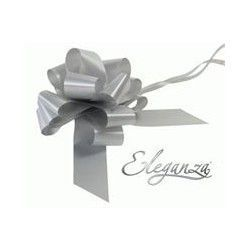 Pull Bows 50mm x 20ct Silver