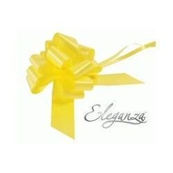 Pull Bows 50mm x 20ct Yellow