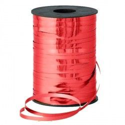 RED 5MM METALLIC RIBBON 500M