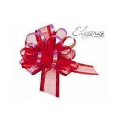 RED ORGANZA PULLBOWS 50MM (10CT)