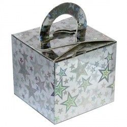 SILVER HOLO STARS BOUQUET BOX 10CT
