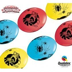 "SPIDER-MAN ULTIMATE QUICK LINK 12"" RED, YELLOW & ROBIN'S EGG BLUE (50CT)"