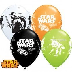 "STAR WARS DARTH VADER & YODA ASSORTMENT 11"" ORANGE, WHITE, ONYX BLACK & LIME GREEN (25CT)"