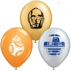 "STAR WARS DROIDS 5"" ORANGE, SILVER & GOLD (100CT)"