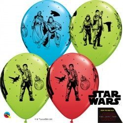 "STAR WARS THE LAST JEDI 11"" RED, ROBINS & LIME (25CT)"