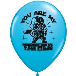 "STAR WARS YOU ARE MY FATHER 11"" ROBIN'S EGG BLUE (25CT)"