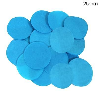 Turquoise Paper Confetti 25mm