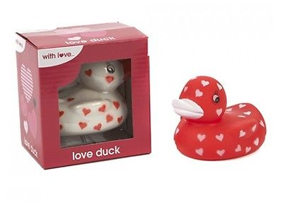 Valentines Rubber Ducks Love Heart Duck In Display Box