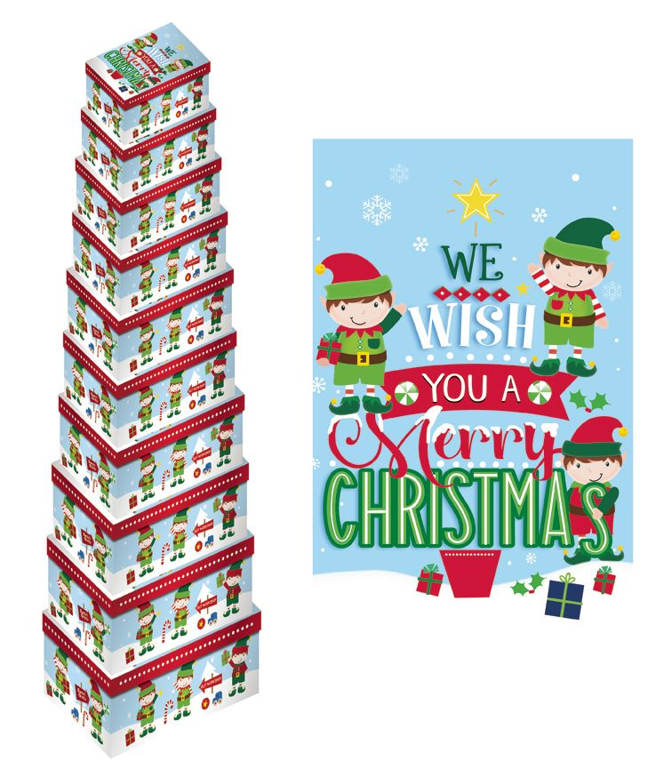 We Wish You A Merry Christmas Elf Gift Box