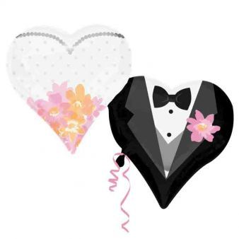 Wedding Couple Hearts SuperShape