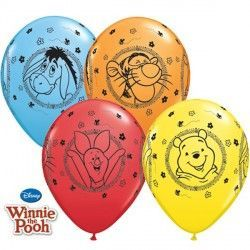"WINNIE THE POOH CHARACTERS 11"" YELLOW, RED, ORANGE & PALE BLUE (25CT)"