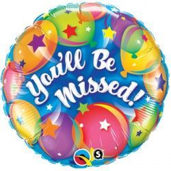 "YOU'LL BE MISSED BALLOONS 18"" PKT"
